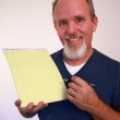 Man with notepad — Stock Photo #2397900