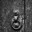 Old Door knocker black and white — Stock Photo #17388369