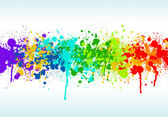 Colorful bright ink splashes — Stock Photo