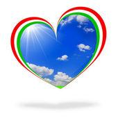 Italy flag heart — Stock Photo