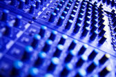 Large Music Mixer desk — Stock Photo