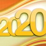 Year 2020 - annual anniversary date — Stock Photo
