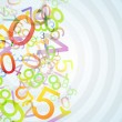 Colored numbers — Stock Photo