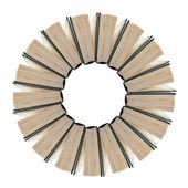Set di libri a forma di fiore — Foto Stock