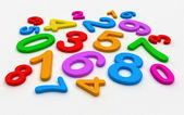 Random colored numbers - elementary school — Stock Photo