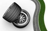 3D Tires - rims — Stock Photo