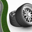 3D Tires - rims — Foto de Stock