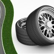 3D Tires - rims — Stock Photo