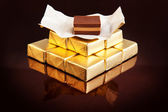 Coffee creams, chocolates golden — Stock Photo