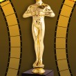 Stock Photo: Oscar Film - Golden Trophy