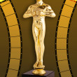 Oscar Film - Golden Trophy — Stock Photo #41645409
