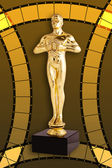 Oscar Film - Golden Trophy — Stock Photo