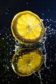 柠檬静物 — 图库照片