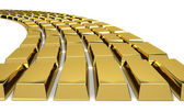 Gold reserve - Wealth states - Economy — Stock Photo