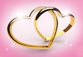 Hearts cross in gold — Stock Photo