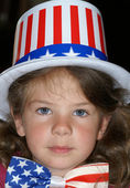 Girl with usa outfit — Stock Photo