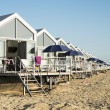 Stock Photo: Beach cabins