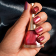 Stock Photo: Red Manicure for woman cosmetic