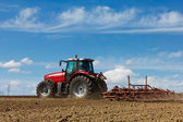 Tractor and Plow — Stockfoto
