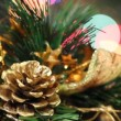 Stock Video: Christmas decoration with Christmas toys
