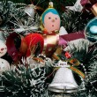 Stock Photo: Christmas decoration with Christmas toys