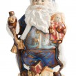 Traditional Santa Claus giving a big ho ho ho belly laugh — Stock Photo #38589889