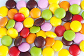 Many colourful halloween candy filling background — Stock Photo