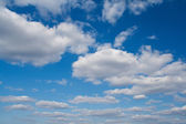 Cloudy blue sky — Stock Photo