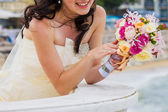 Bride and bouquet. Wedding Bouquet. — Stock Photo