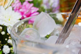 Glass of Ice Cubes — Stock Photo