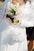 Bride and bouquet. Wedding Bouquet — Stock Photo