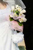 Bruid en boeket. bruiloft boeket — Stockfoto
