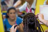 Peinado de belleza con coletas — Foto de Stock