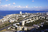Aerial view of Haifa city — Stock Photo