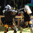 Fighting knight — Stockfoto
