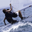 Yacht race in a Mediterranean sea - ストック写真