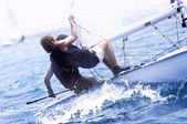 Yacht race in a Mediterranean sea — Stock Photo
