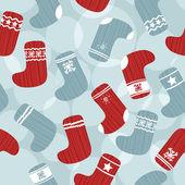 Seamless Christmas Background — Stock Vector