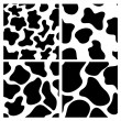 Seamless cow skin backgrounds — Stock vektor