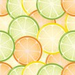 Seamless citrus background — Stock Vector