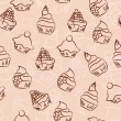 Seamless cupcake background — Grafika wektorowa