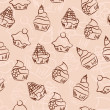 Seamless cupcake background — Stockvektor