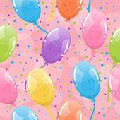 Seamless balloons background — Stock Vector