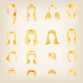Blonde hairstyles for women — Wektor stockowy