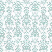 Turquoise and white damask background — Stock Vector