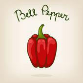 Cute illustration of bell pepper — Stock vektor