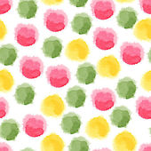 Seamless background with watercolor dots — Stock Vector