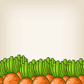 Vector cute background with carrot border — Stock Vector