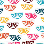 Vector seamless pattern with doodles — Stock Vector