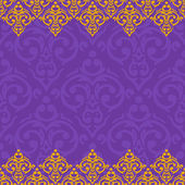 Seamless border damask baroque — Vecteur
